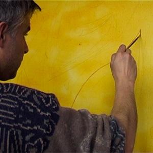 un trait de pinceau du peintre guillevic la chapelle rose