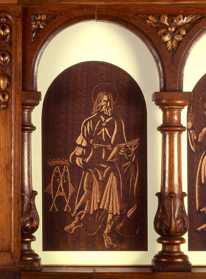 bg sur papier du peintre guillevic représentant saint jean l'évangéliste