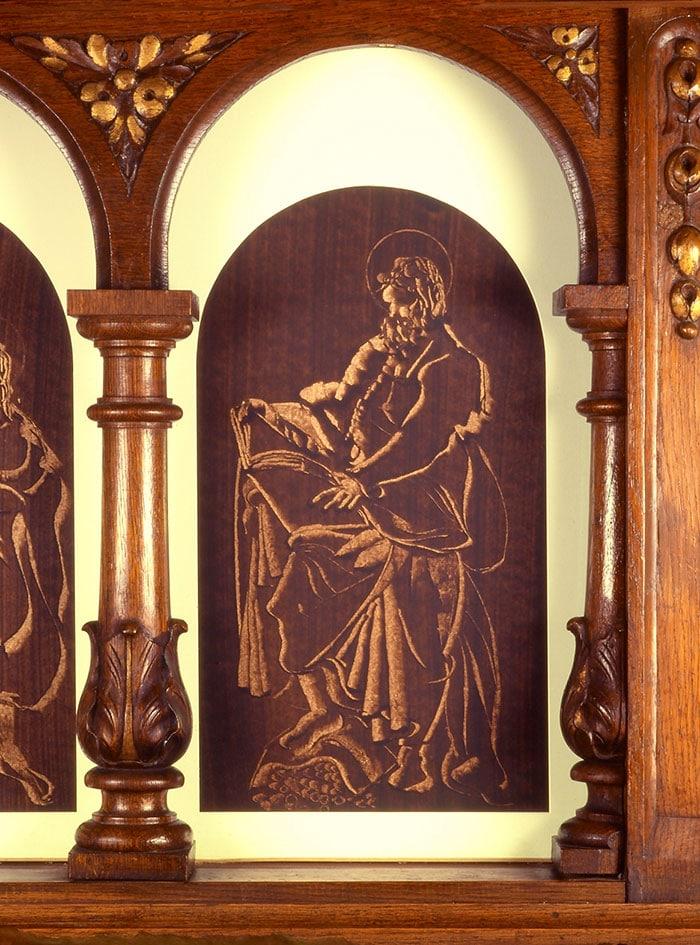 bg sur papier de guillevic autel église de larmor-plage