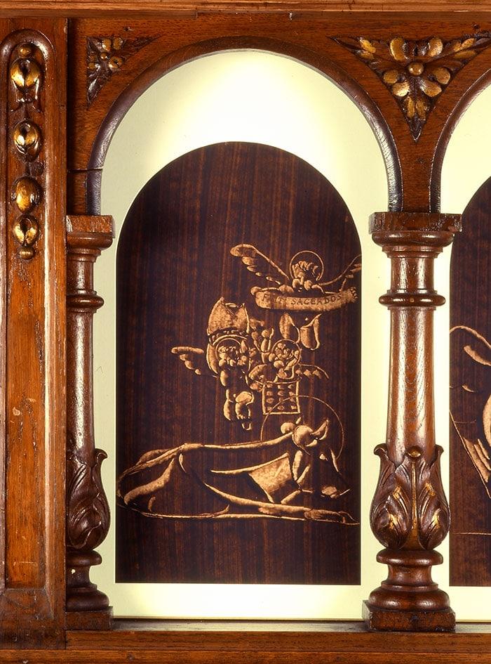 peinture de guillevic représentant le boeuf de saint luc