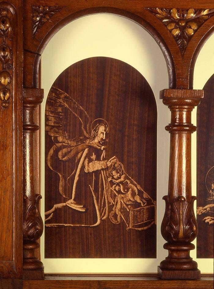 bg sur papier de guillevic représentant l'homme de saint matthieu église de larmor-plage