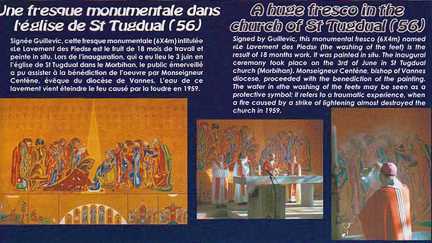 church saint-tugdual the washing of the feet