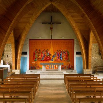 l'église du lavement des pieds et la peinture de yannig guillevic