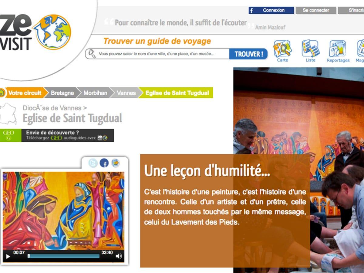 Guide audio église du lavement des pieds à Saint-Tugdual