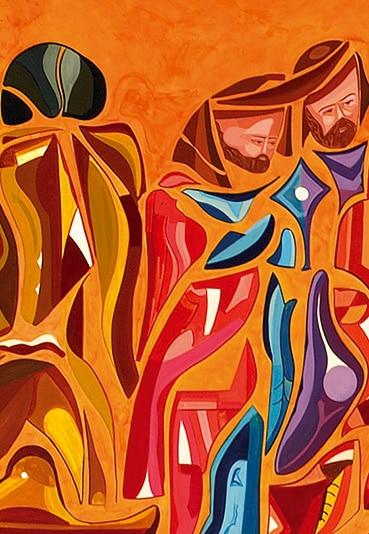 Judas peinture de Guillevic le montrant de dos sans visage
