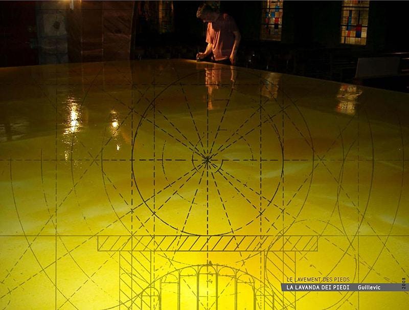 vatican lavement des pieds du peintre yannig guillevic